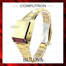 New Bulova Computron Digital Led Display 96C139 - Gold Retro Back To The Future