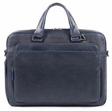 PIQUADRO Computer Briefcase Aktentasche Henkeltasche Tasche Blu Notte Blau