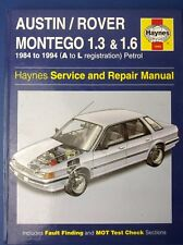 Haynes Service and Repair Manual Austin Rover Montego 1984 - 1994 A to L  (1712)