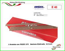 ELETTRODI SALDATURA RUTILICI 2.5 x 300  TIPO RUTILICO  ROSSO PZ 275 SIDERARCO