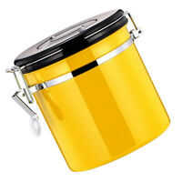 Food Storage Jars Canisters Containers for Tea Coffee Flour Cereal Yellow