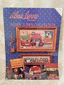 Noahs Ark Collectors Cross Stitch Pattern Leaflet Alma Lynne Designs Vtg 1994