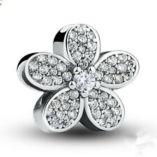 1pcs Silver flower European Charm Beads Fit 925 Necklace Bracelet Chain SH645