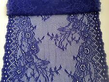 """~ Wide Forget-me-Not Blue Soft Stretch Lace 24 cm/9.5"""" Table Runner"""