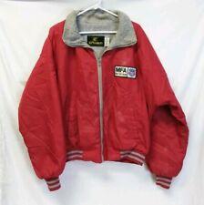 "Vintage K Products Mens Sz Xl Jacket Nylon Zip Poly Lined ""Mfa Agri Services"""
