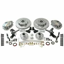 "Mustang II IFS 13"" Big Brake Kit w/ 2 Drop Pro Spindles Hot Rod Truck V8 GM Ford"
