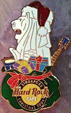 Hard Rock Cafe SINGAPORE 2004 Christmas PIN Merlion Santa Hat & Presents #26311