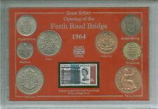 Le Forth pont routier ouverture Scotland Edinburgh Fife Coin & Stamp Ensemble Cadeau 1964