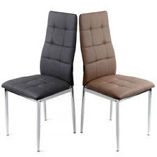 Chaise de salle à manger moderne en métal pour la maison