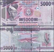 GUINEA P49 B340 5000 FRANCS 2015 UNC GX Prefix @ EBS