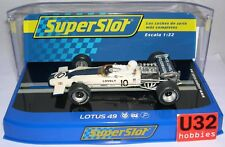 SUPERSLOT H3707 LOTUS 49 #10 F1 RACE OF CHAMPIONS PETER LOVELY  SCALEXTRIC UK MB