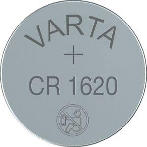 2x CR1620 Lithium Knopfzelle 3 Volt von VARTA lose Industrieware