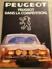 Peugeot Car Brochure - 1981 - In French