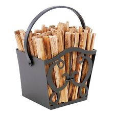 Achla Cypher Fatwood Caddy w/Fatwood Wrought Iron- Vfwc21-01 Fatwood Caddy New