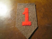 WWI US Army 1st Division Patch wool AEF