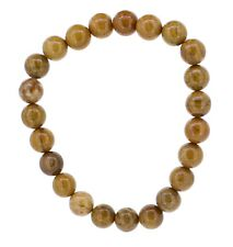 Armband gelber Jaspis mit Stretch-Nylonfaden, Edelstein Kugel-/ Perlenarmband