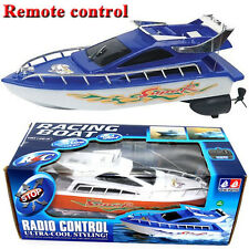 Plastic Remote Control Boats Speed Electric Toys Model Ship Sailing Children Gam