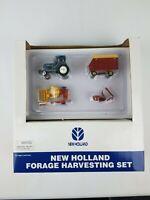 1/64 Ertl New Holland Forage Harvesting Set Rare