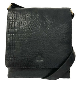 50% Off Rowallan Black Leather Shoulder Bag, Messenger Bag