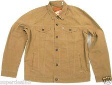 Levi's Trucker Jacket Wax Treated Lightweight Jacket 723340173 Covert Khaki Levi