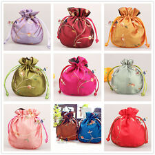 Wholesal12pcs Chinese Vintage Embroidered Silk jewelry Pouch/Coin Purse Gift Bag
