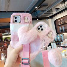 Bling Bunny Rabbit Fur Plush Fuzzy Fluffy Cases For T-Mobile Revvl 4 4+ 5G Tcl