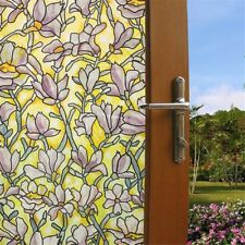 """17.7""""×78.7"""" Static Cling PVC Frosted Glass Window Privacy Film Sticker Bedroom"""