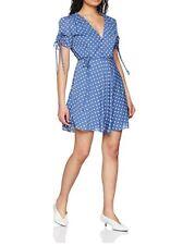 Glamorous Womens Spotty Dusty Blue Ck4920 Summer Dress Uk 10