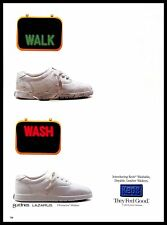 1993 Keds Shoes Vintage PRINT AD Washable Leather Walkers Sports White Footwear