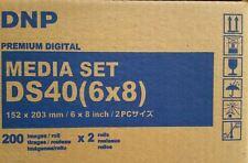 NEW DS40(6x8)z  DNP DS40 Premium Digital 6x8 Print Media Kit DS40PK68 Sealed