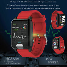 ECG PPG Detection Smart Watch Blood Pressure 3D UI Display Heart Rate Fit Track