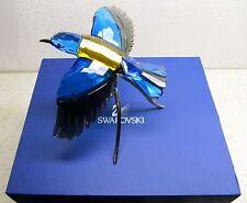 $950 Swarovski Color Crystal Bird Figurine ROLLER Blue Turquoise #957568