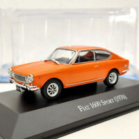 IXO Fiat 1600 Sport 1970 Orange Diecast Models Limited Edition Used 1:43