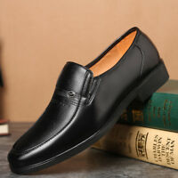 Formal Men's  Business Leather Shoes Casual Flat Oxford Dress Slip On Round Toe