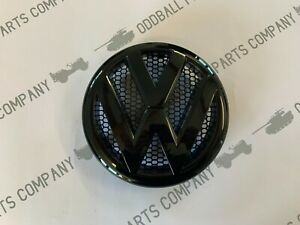 TRANSPORTER T5 FRONT GRILLE BADGE GLOSS BLACK & MESH REPLACEMENT BADGE 165mm
