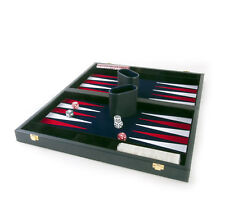 Attaché Backgammon - Clásico 38.1cm Oxford Azul en una Attaché FUNDA