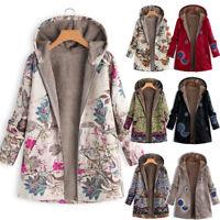 Women Winter Warm Outwear Fleece Hooded Coats Ladies Thick Jacket Parka S-5XL