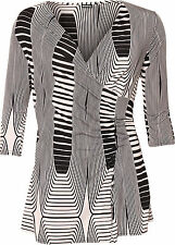3/4 Sleeve Stretch Striped Tops & Shirts for Women