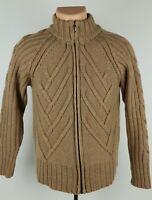 Pendleton Womens Heavyweight Cable Knit Full Zip Merino Wool Sweater - See Desc.