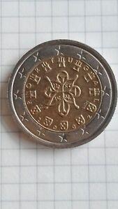 Moneta 2 euro Portogallo 2002 difetto stelle impresse fuoriescono dalla Corona