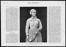 1886 Antique Print Portraits -  Sister Dora Dorothy Wyndlow Pattison (74)