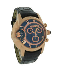 Roberto Cavalli R7271649025 Mens Caractere Alligator Rose Gold Tone Chrono Watch