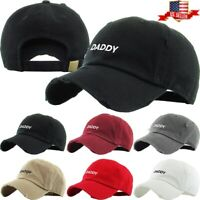 Daddy Embroidery Dad Hat Cotton Adjustable Baseball Cap Unconstructed