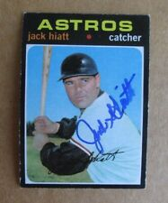 1971 TOPPS BASEBALL JACK HIATT #371 AUTOGRAPHED SIGNED CARD HOUSTON ASTROS