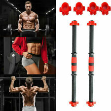 2X Dumbbell Bars Dumbbell Handles Weight Lifting Spinlock Collar Set for Gym