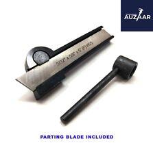 Lathe Cut Off Parting Tool Holder 38x 78x 5 Hss Blade 332x 58x 5