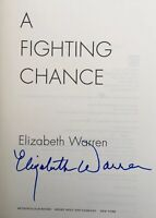 ELIZABETH WARREN SIGNED A FIGHTING CHANCE BOOK 2020 PRESIDENT BECKETT COA