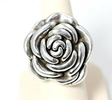 Big Beautiful Sterling Silver Flower Ring Size 7.75 - 2776