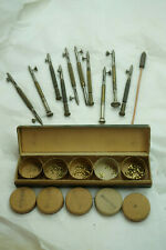 VINTAGE WATCH REPAIR TOOLS LOT SCREWDRIVER WASHER WATCHMAKER CLOCKMAKER JEWELERS