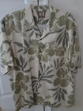 Tommy Bahama 100% Silk Camp Shirt XL Bold Flower Design EUC